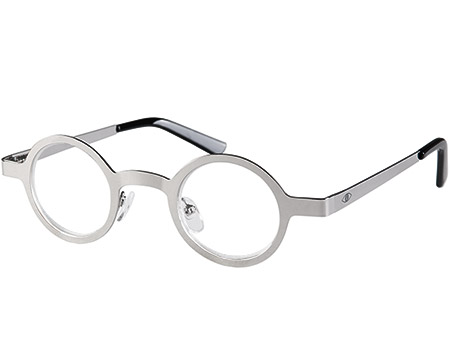 Boss (Silver) Retro Reading Glasses - Thumbnail Product Image