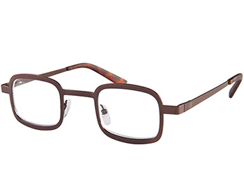 Beauregard (Brown) Retro Reading Glasses - Thumbnail Product Image