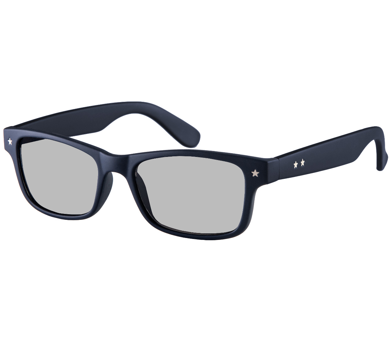 Main Image (Angle) - Lucca (Dark Navy) Retro Sun Readers