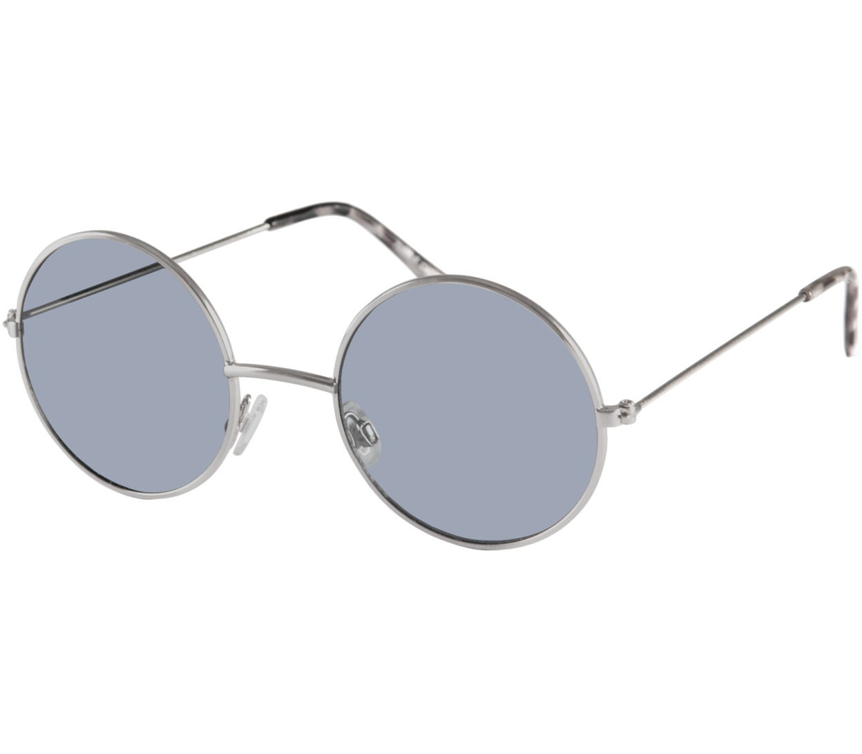 Main Image (Angle) - Maverick (Silver) Retro Sunglasses