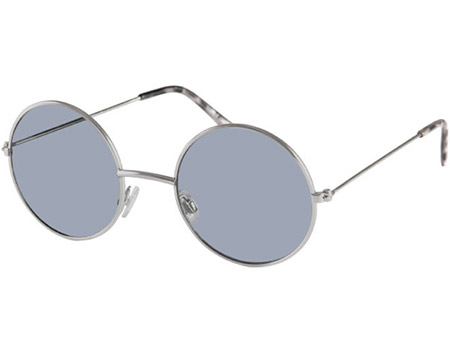 Maverick (Silver) Retro Sunglasses - Thumbnail Product Image