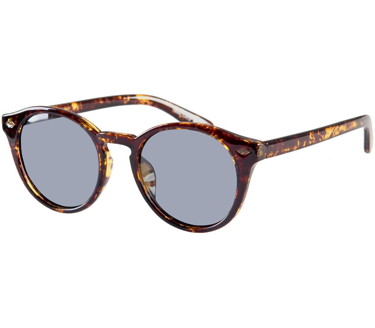 Main Image (Angle) - Lorenzo (Tortoiseshell) Retro Sunglasses