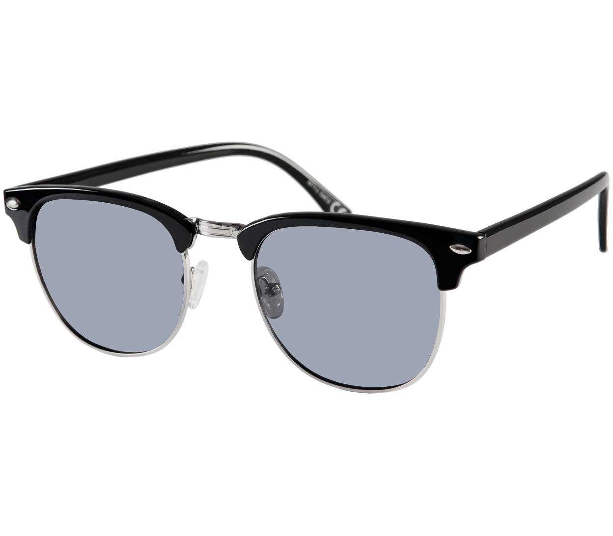 Main Image (Angle) - Turin (Black) Retro Sunglasses