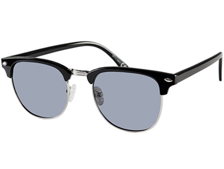 Turin (Black) Retro Sunglasses - Thumbnail Product Image