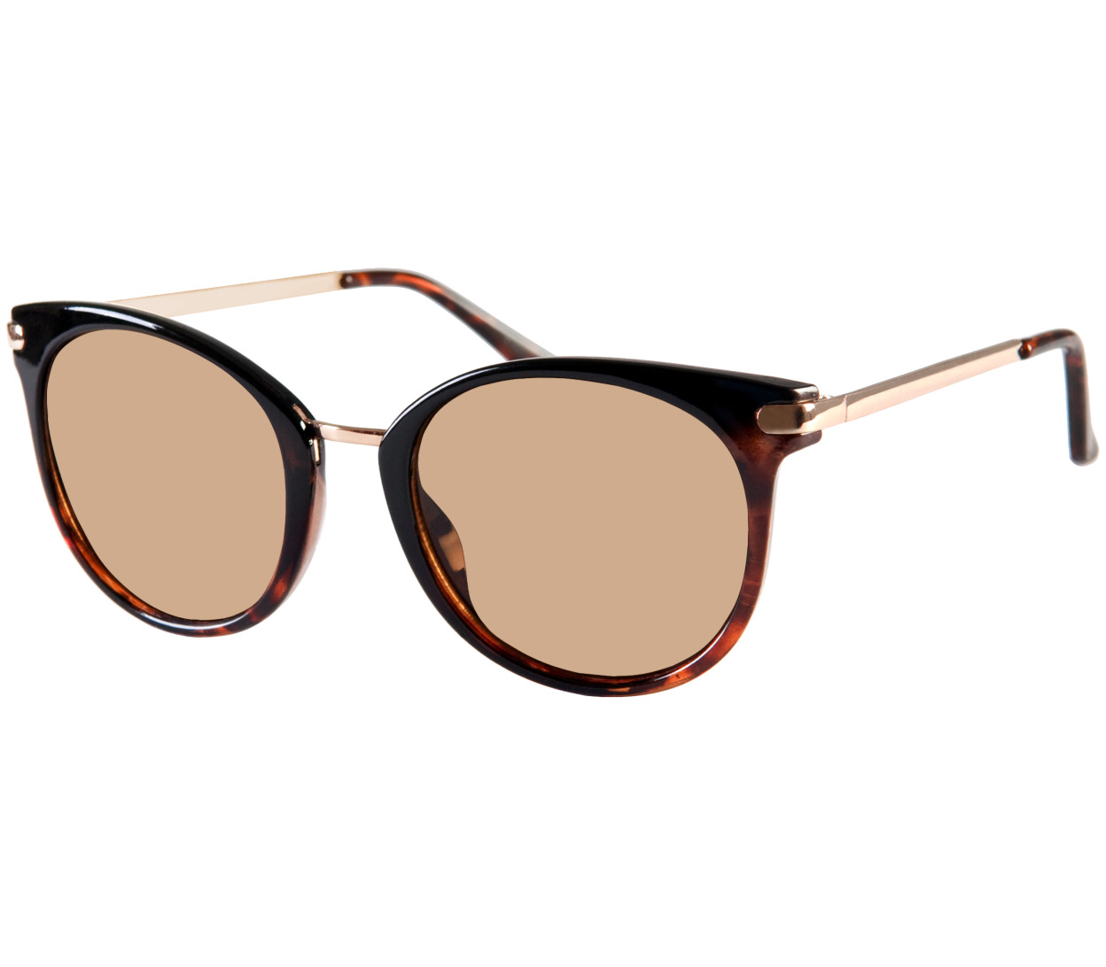 Main Image (Angle) - Vera (Two Tone) Retro Sunglasses