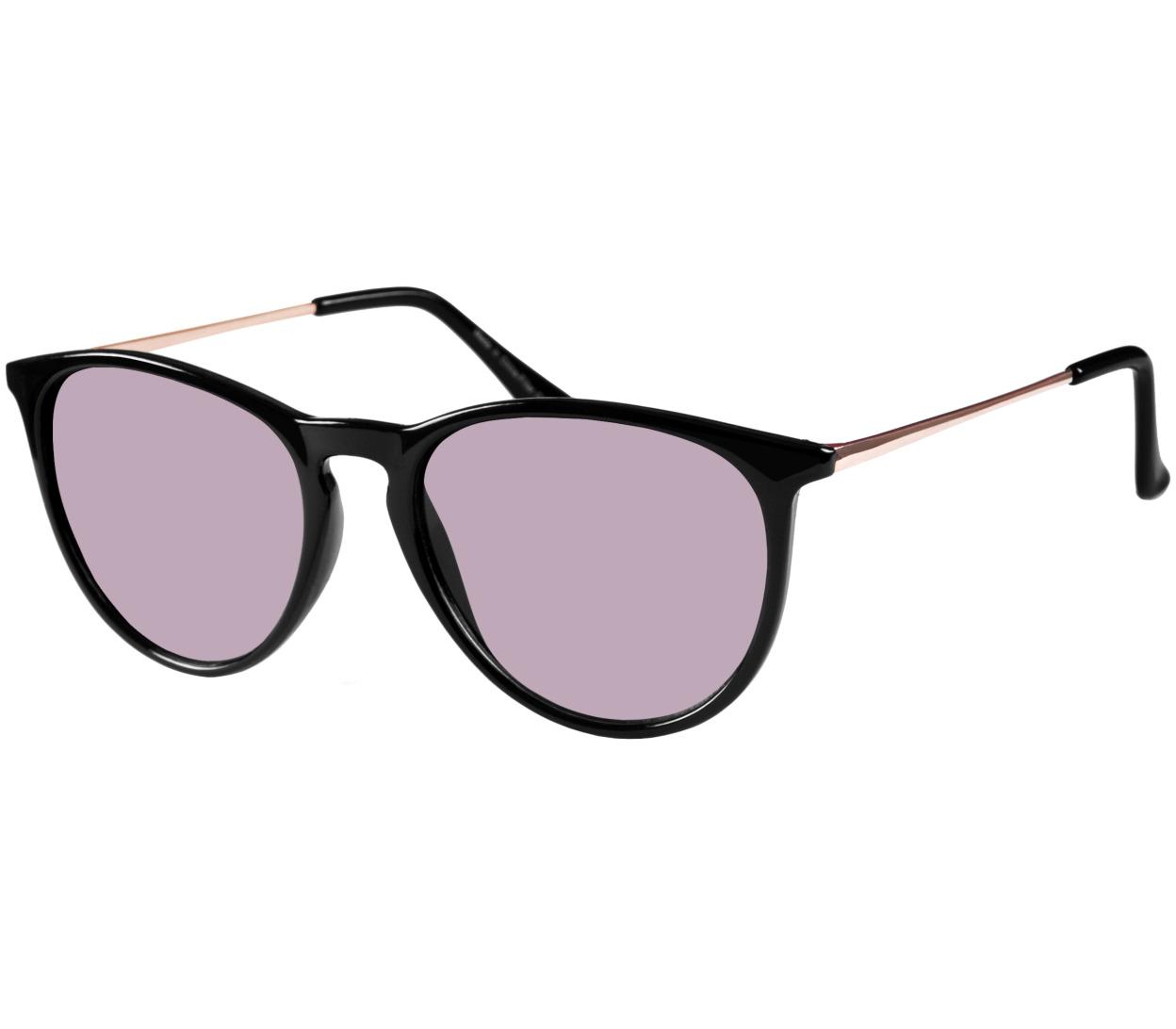 Main Image (Angle) - Paradise (Black) Retro Sunglasses