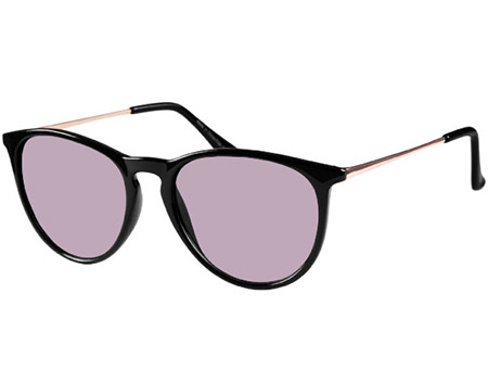 Paradise (Black) Retro Sunglasses - Thumbnail Product Image