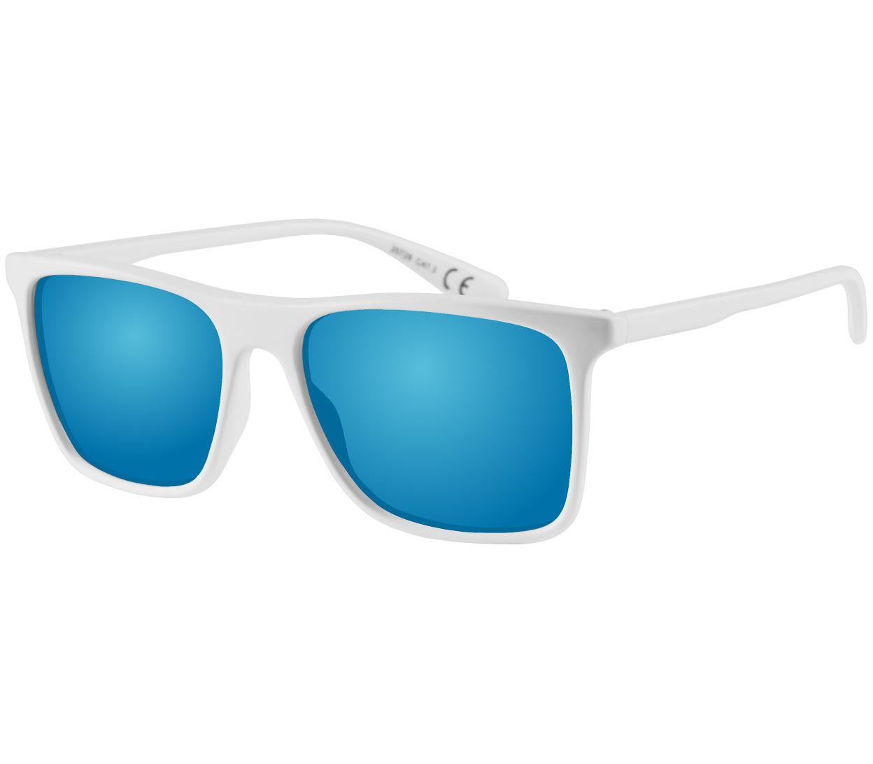 Main Image (Angle) - Summit (White) Wayfarer Sunglasses
