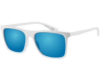 Summit (White) Wayfarer Sunglasses - Thumbnail Product Image