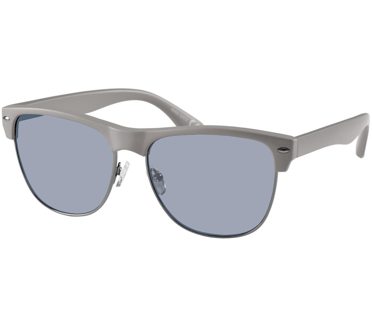 Main Image (Angle) - Horizon (Grey) Retro Sunglasses
