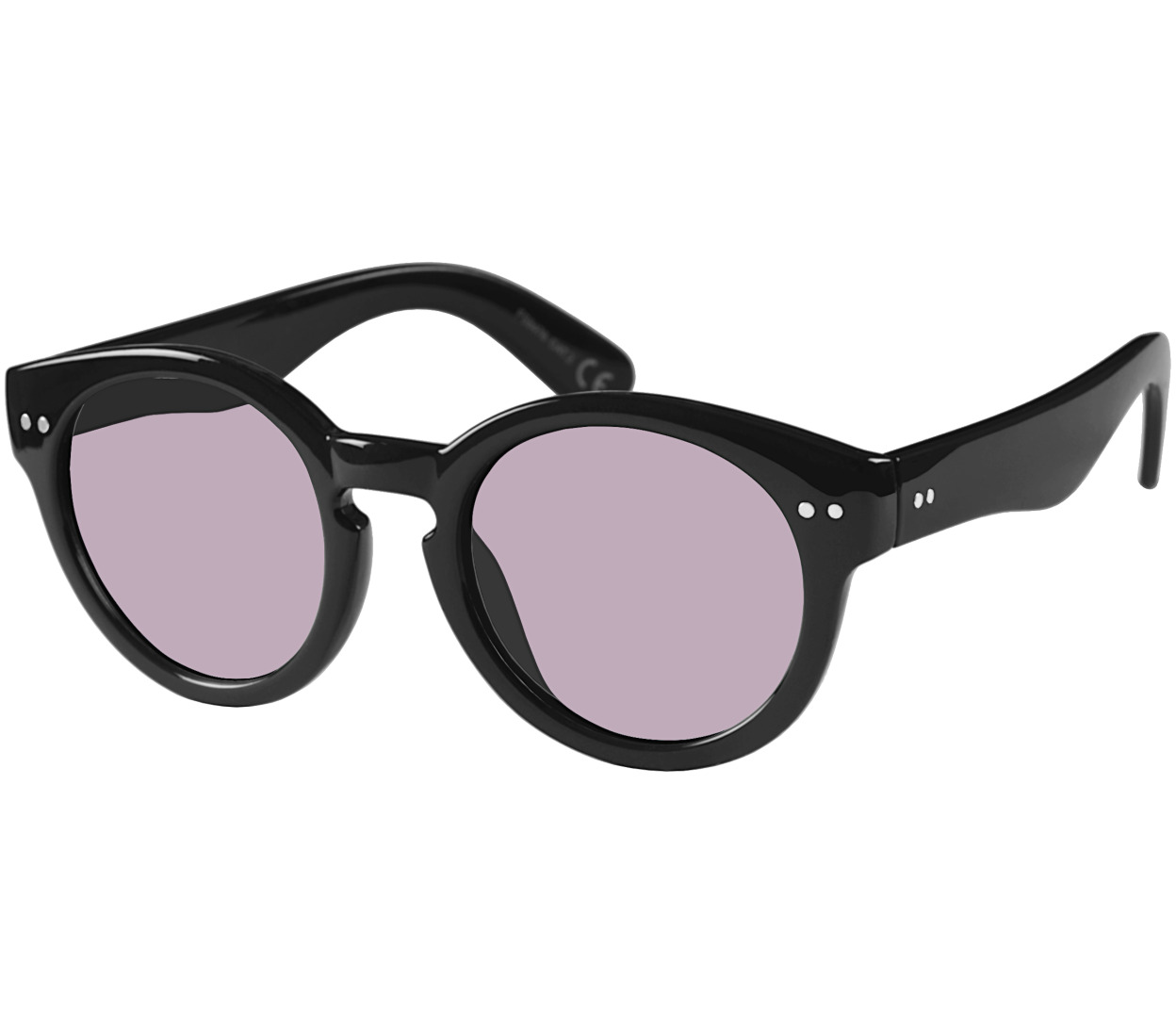 Main Image (Angle) - St Clair (Black) Retro Sunglasses