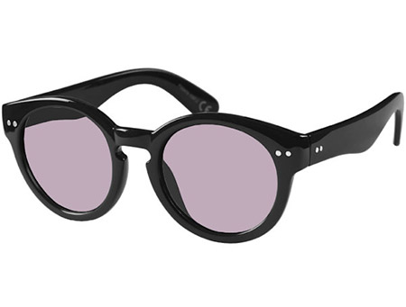 St Clair (Black) Retro Sunglasses - Thumbnail Product Image