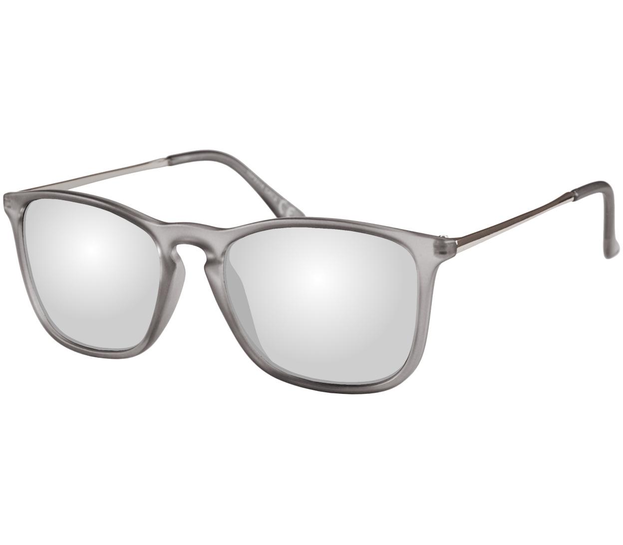 Main Image (Angle) - Toledo (Grey) Retro Sunglasses