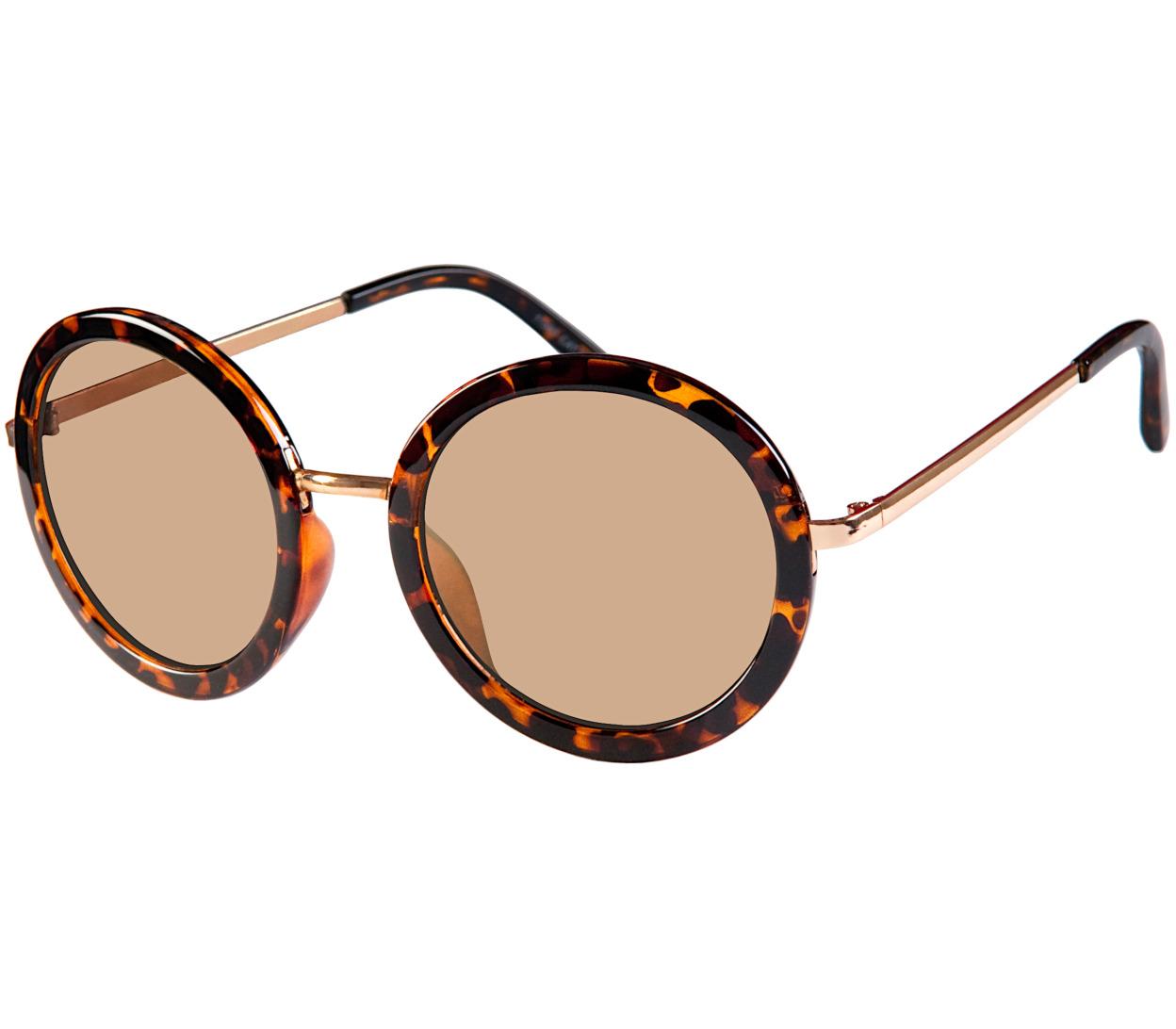 Main Image (Angle) - Rose (Tortoiseshell) Retro Sunglasses