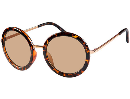 Rose (Tortoiseshell) Retro Sunglasses - Thumbnail Product Image