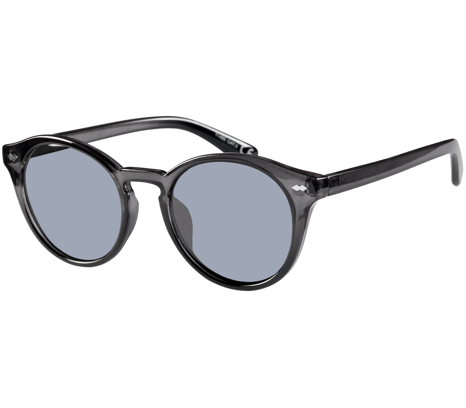 Main Image (Angle) - Lorenzo (Grey) Retro Sunglasses
