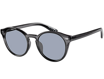 Lorenzo (Grey) Retro Sunglasses - Thumbnail Product Image