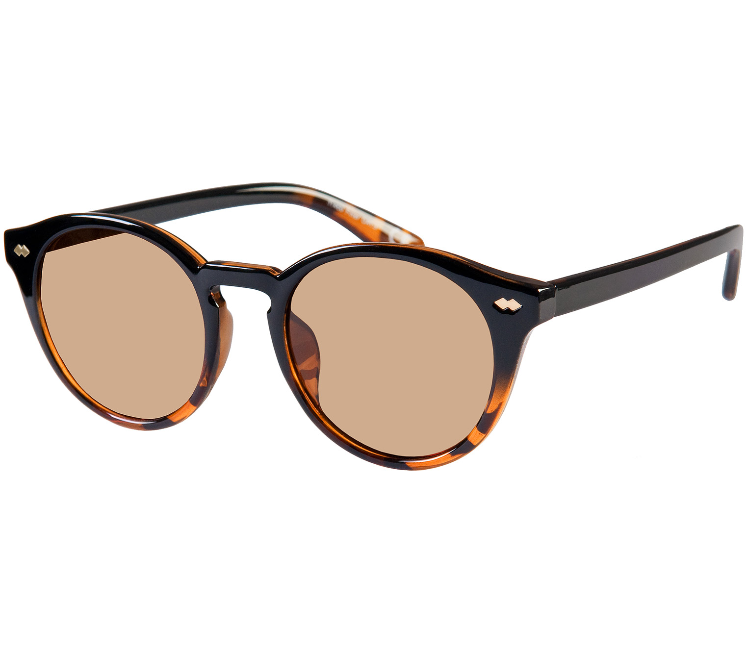 Main Image (Angle) - Lorenzo (Two Tone) Retro Sunglasses