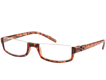 Sloane (Tortoiseshell) Semi-rimless Reading Glasses - Thumbnail Product Image