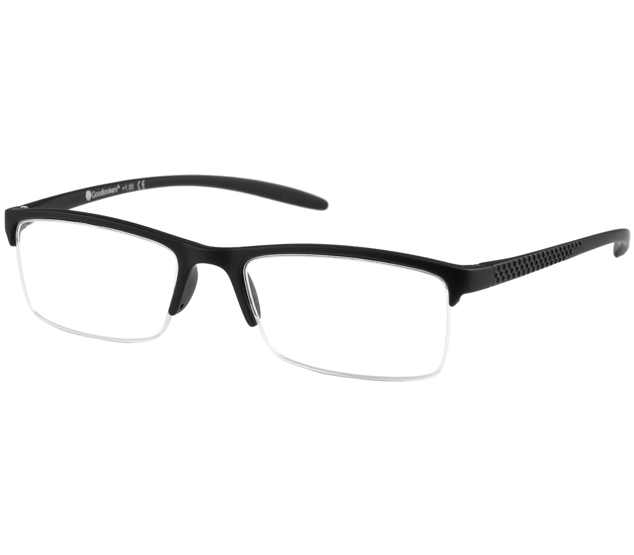 Main Image (Angle) - Parliament (Black) Semi-rimless Reading Glasses