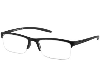 Parliament (Black) Semi-rimless Reading Glasses - Thumbnail Product Image