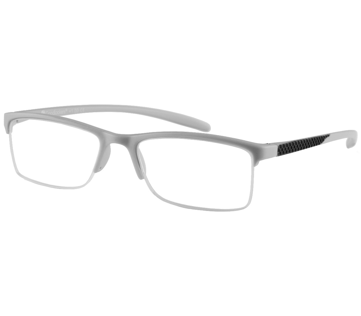 Main Image (Angle) - Parliament (Grey) Semi-rimless Reading Glasses