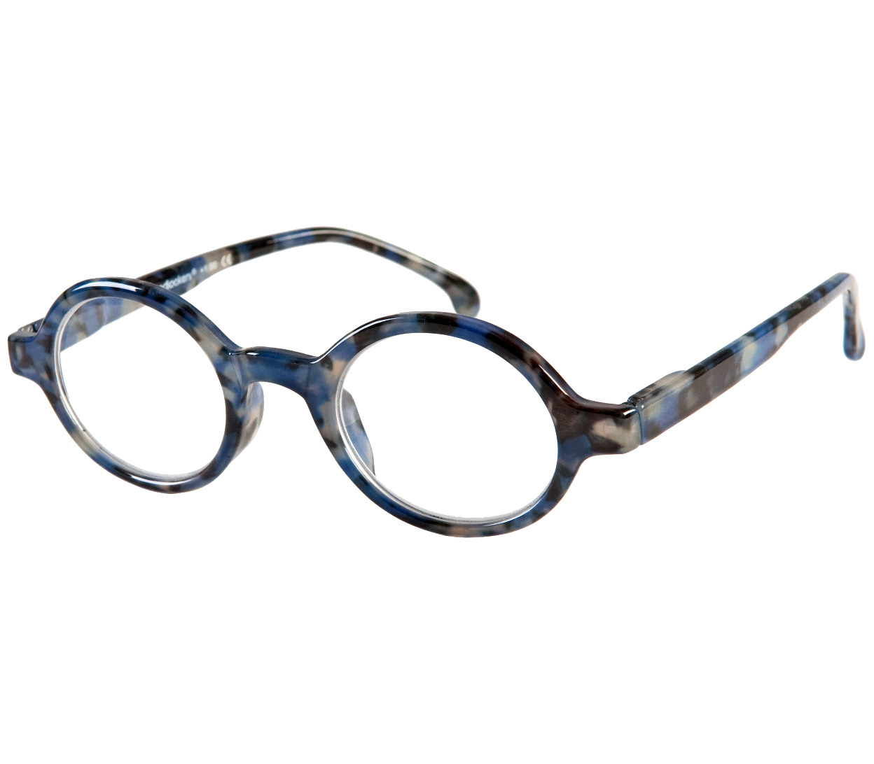 Main Image (Angle) - Kensington (Blue) Retro Reading Glasses