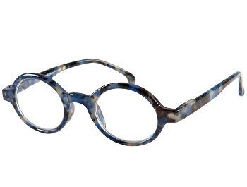 Kensington (Blue) Retro Reading Glasses - Thumbnail Product Image