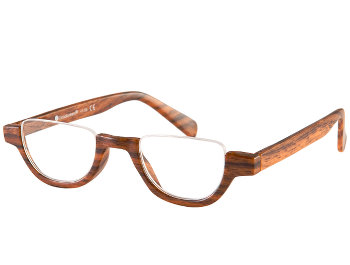 Fulham (Brown) Semi-rimless Reading Glasses - Thumbnail Product Image