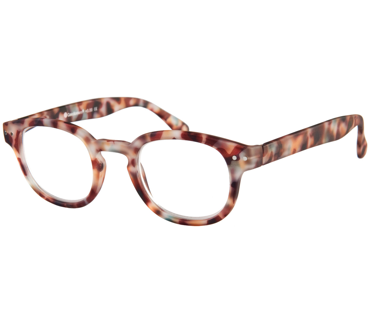 Main Image (Angle) - Greenwich (Multi Tortoise) Retro Reading Glasses