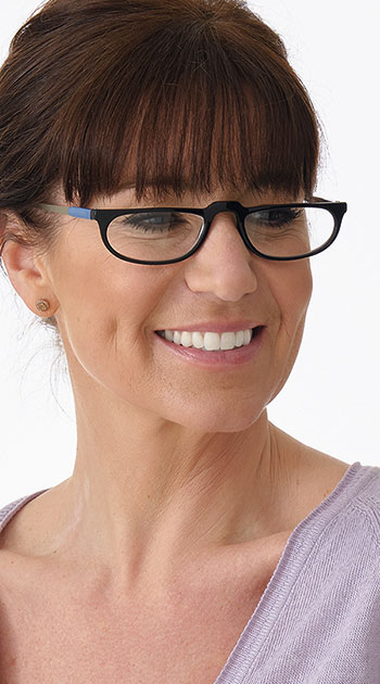 Lucky (Black) Classic Reading Glasses - Thumbnail Model Image