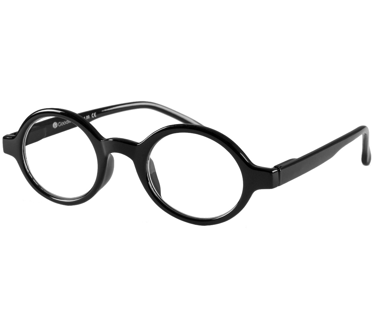 Main Image (Angle) - Kensington (Black) Retro Reading Glasses