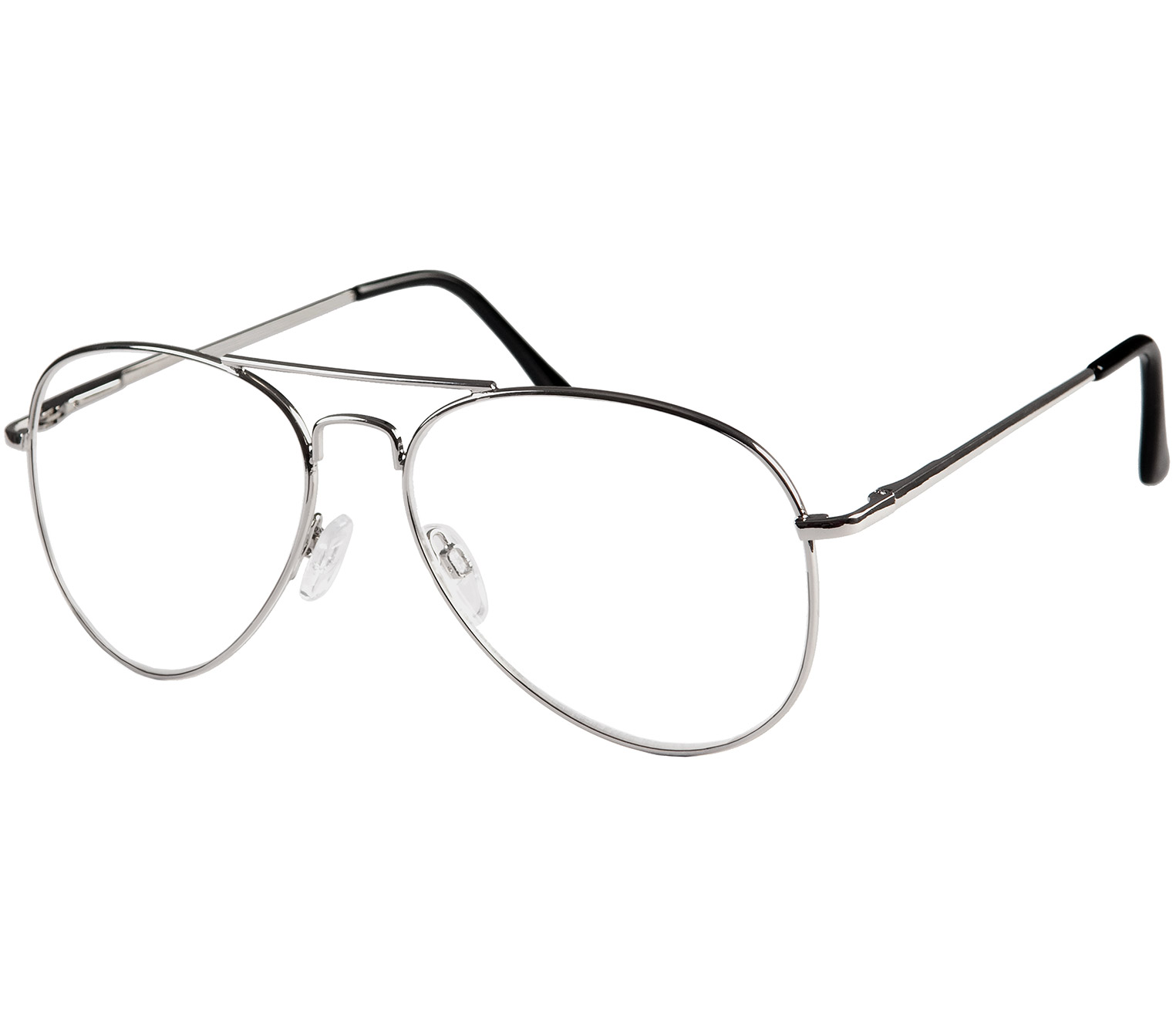 Main Image (Angle) - Bailey (Silver) Classic Reading Glasses