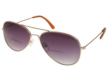 Houston (Gold) Bifocal Sun Readers