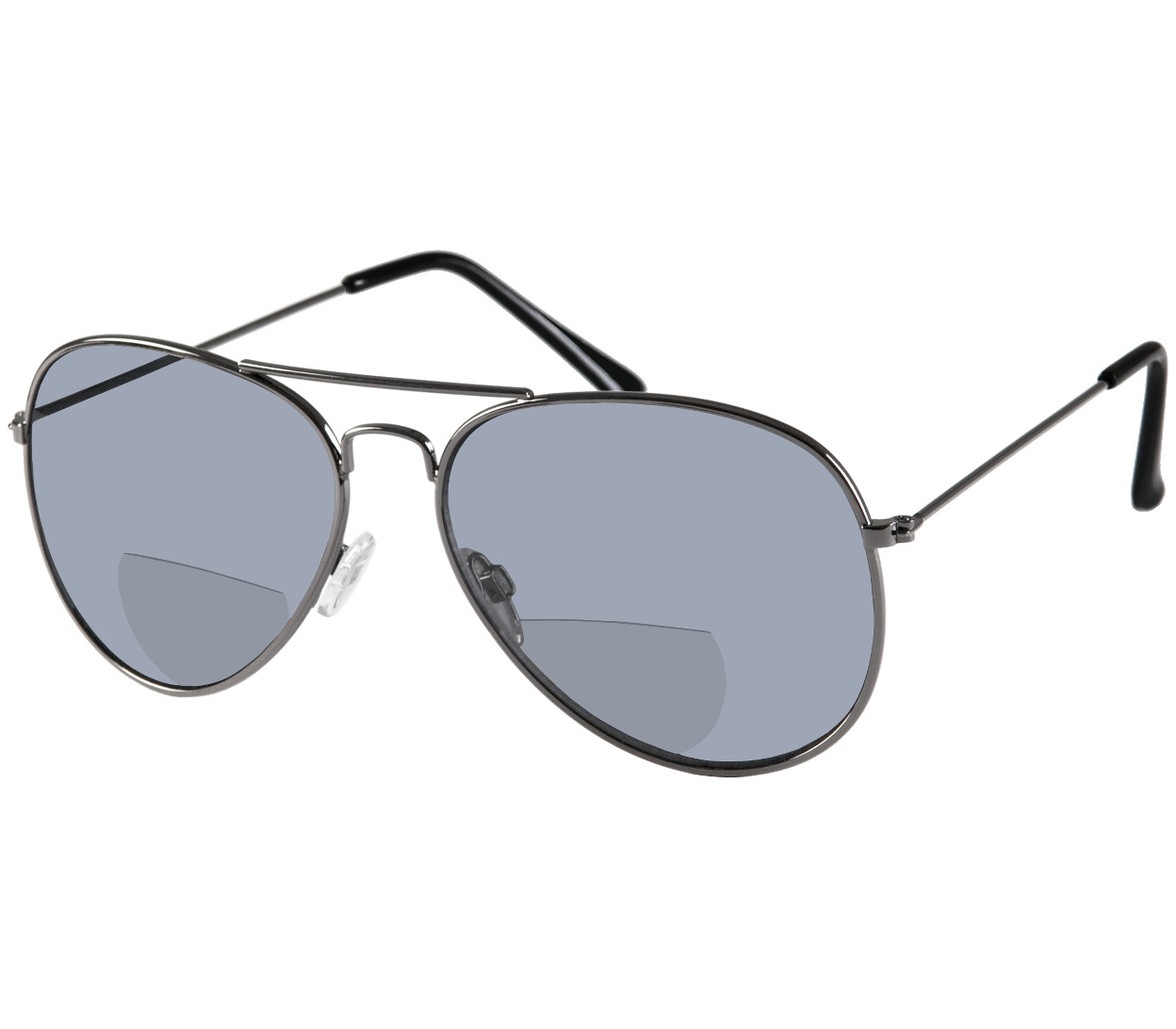 Main Image (Angle) - Houston (Gunmetal) Bifocal Sun Readers