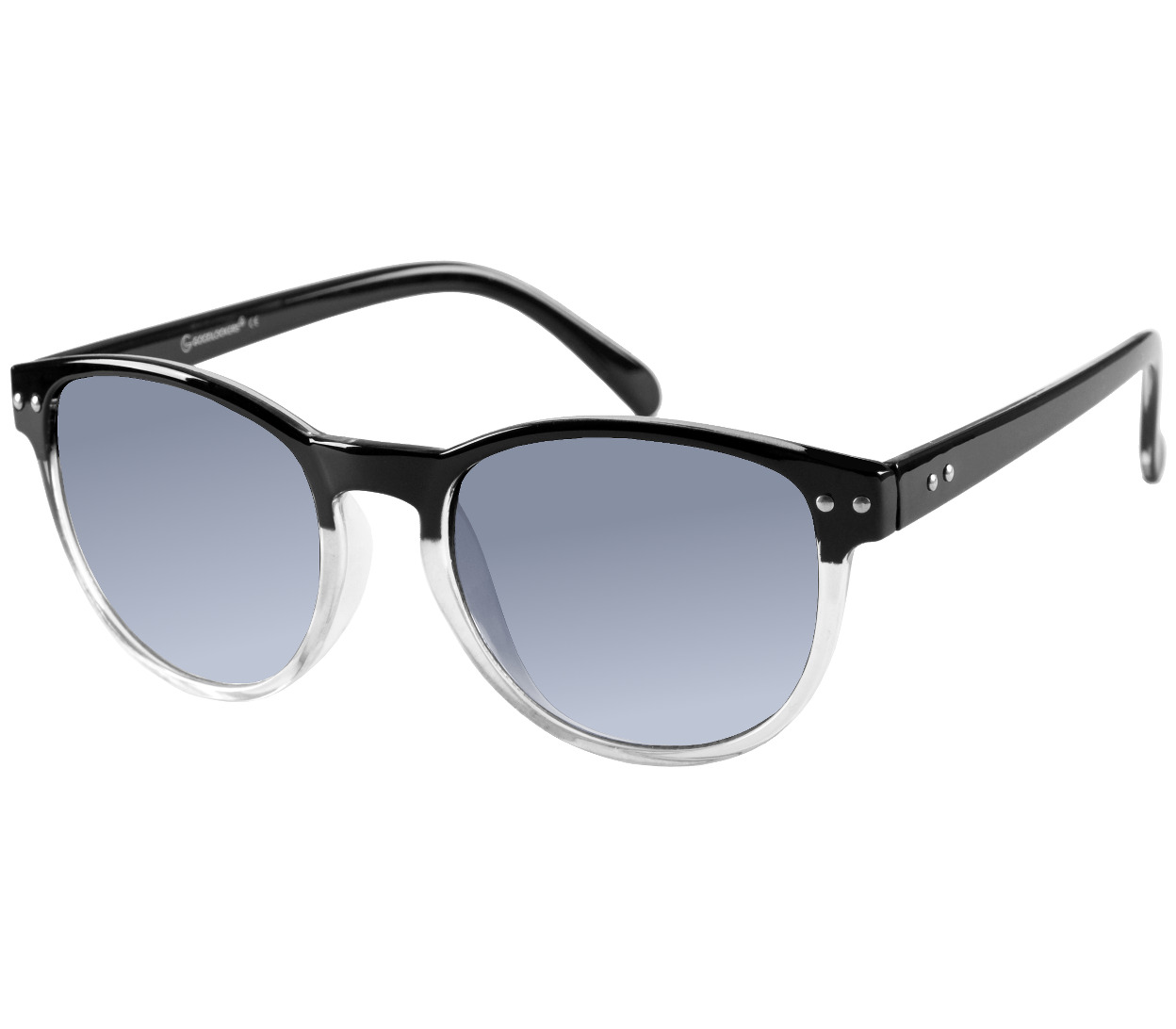 Main Image (Angle) - Newhaven (Black) Retro Sunglasses