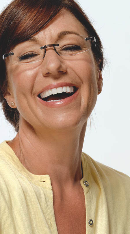 Jelli (Grey) Rimless Reading Glasses - Thumbnail Model Image