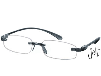 Jelli (Grey) Rimless Reading Glasses - Thumbnail Product Image