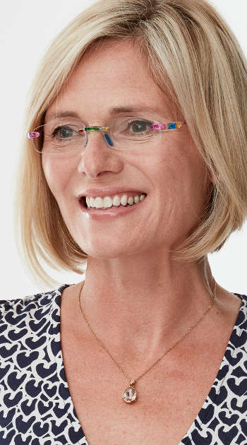 Jelli (Multi-coloured) Rimless Reading Glasses