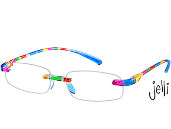 Jelli (Multi-coloured) Rimless Reading Glasses - Thumbnail Product Image