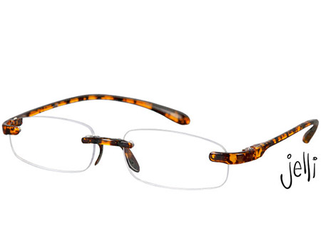 Jelli (Tortoiseshell) Rimless Reading Glasses - Thumbnail Product Image