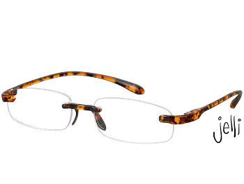 Jelli (Tortoiseshell) Rimless Reading Glasses