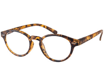 Espresso (Tortoiseshell) Retro Reading Glasses - Thumbnail Product Image