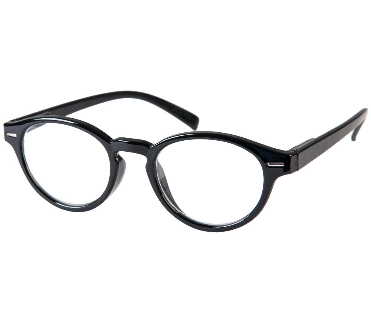 Main Image (Angle) - Espresso (Black) Retro Reading Glasses