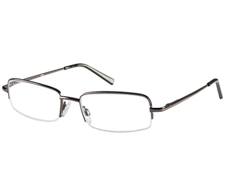 Westport (Gunmetal) Semi-rimless Reading Glasses - Thumbnail Product Image