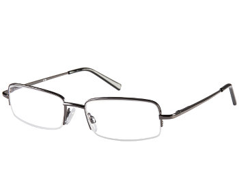 Westport (Gunmetal) Semi-rimless Reading Glasses