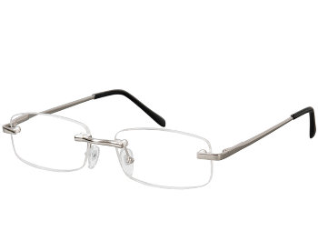Oslo (Silver) Rimless Reading Glasses - Thumbnail Product Image