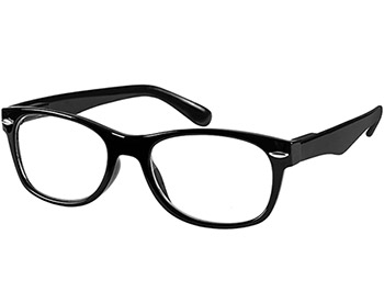 Harper (Black) Retro Reading Glasses - Thumbnail Product Image