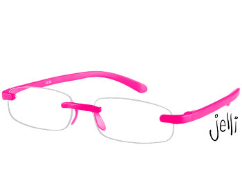 Jelli Neon (Pink) Rimless Reading Glasses