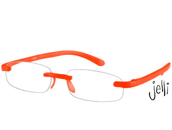 Jelli Neon (Orange) Rimless Reading Glasses